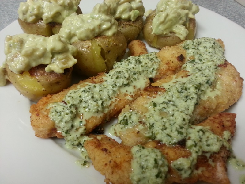 Garlic Chicken with a Lime Cilantro Butter Sauce and ...